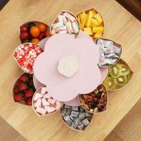 Раздвижная менажница для сухофруктов и конфет Candy Box Pattern Rotating, розовый