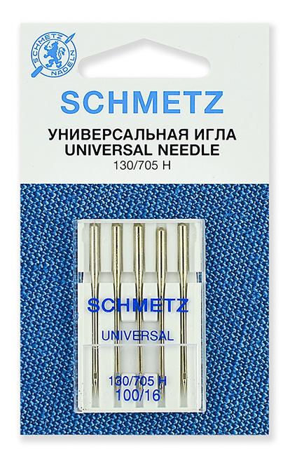 Иглы стандартные Schmetz 130/705H № 100 (22:15.2.VES)
