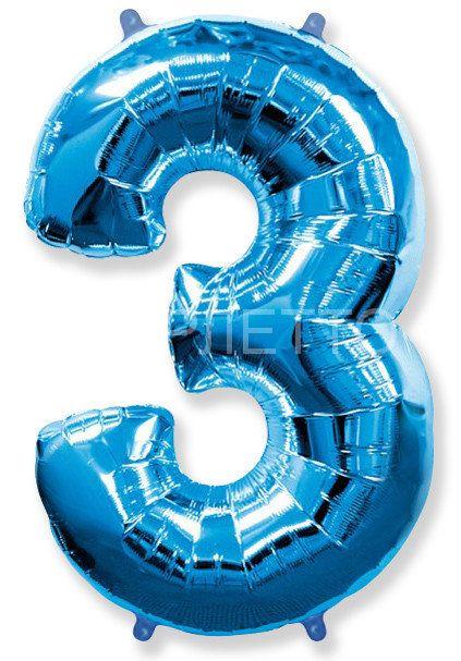 "Цифра ""3"" синий"