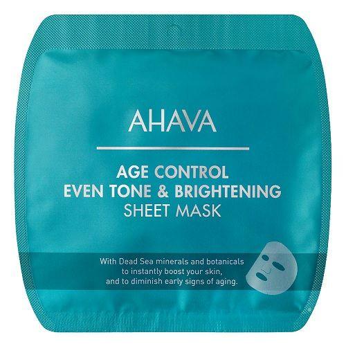 Ahava Тканевая маска выравнивающая цвет кожи Time To Smooth, 1 шт.