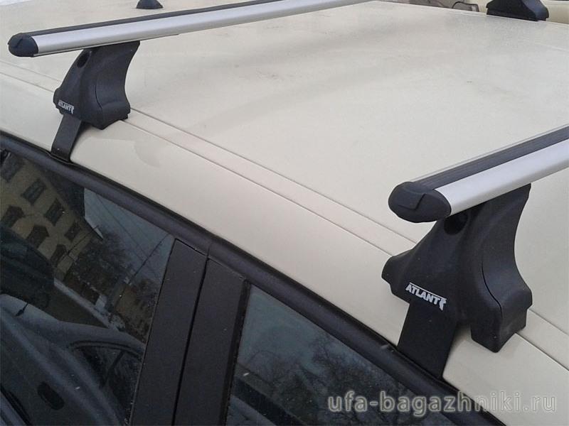 Багажник на крышу Renault Kaptur, Атлант, аэродинамические дуги, опора Е