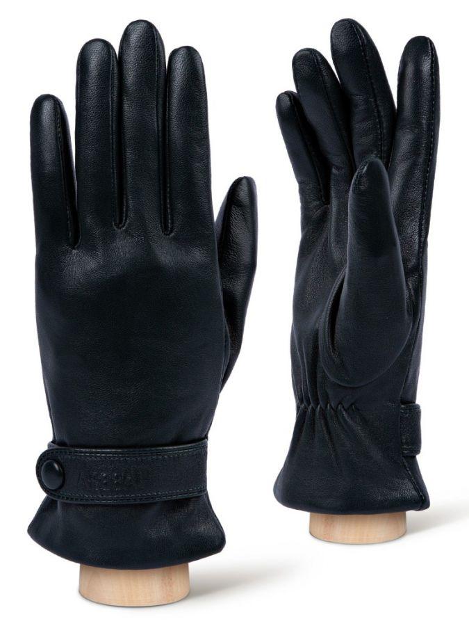 Кожаные Зеленые перчатки LABBRA