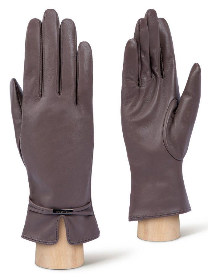 Розовые женские перчатки ELEGANZZA