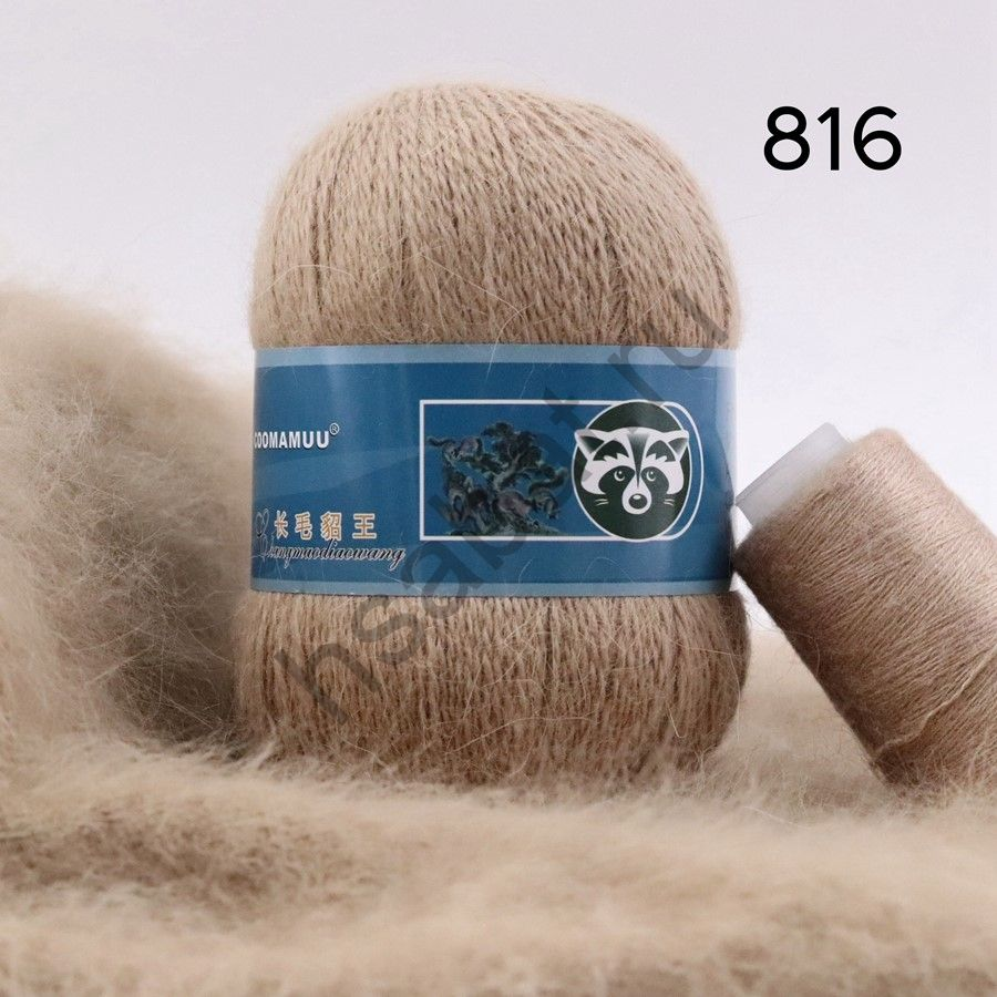 Плюшевая пряжа с шерстью норки 816