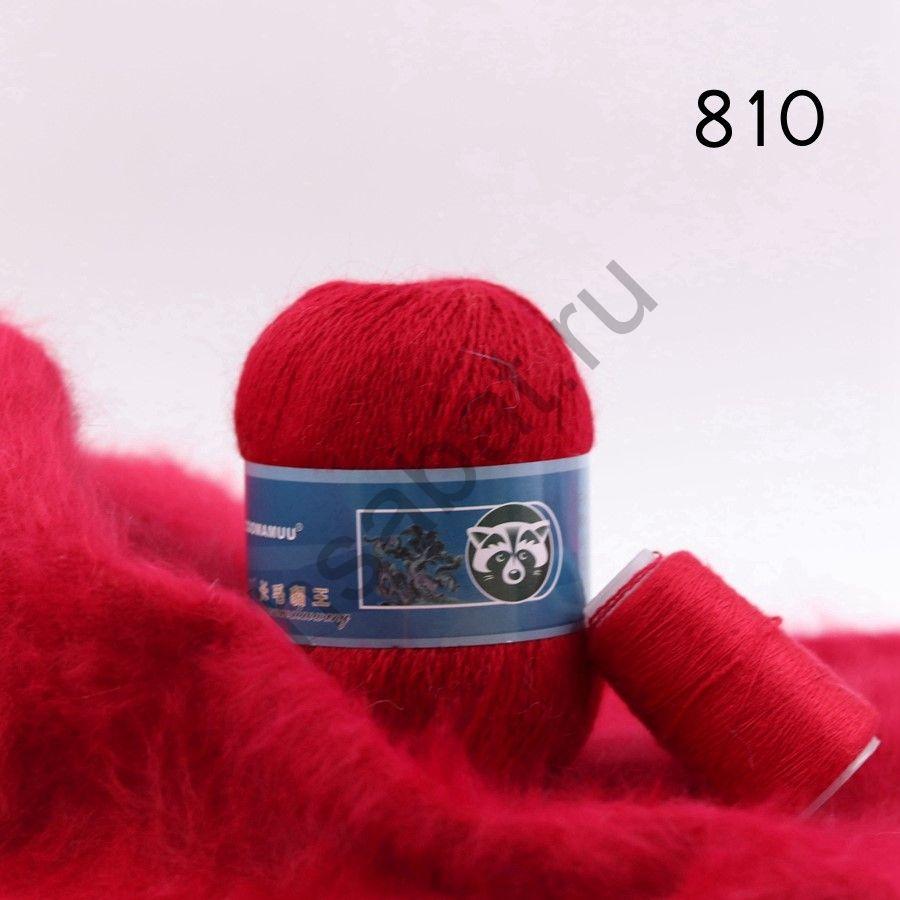 Плюшевая пряжа с шерстью норки 810