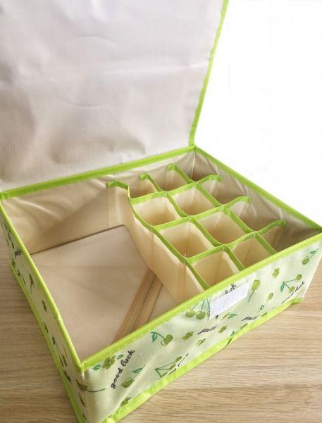 Складной кофр для хранения вещей с ячейками, 32х26х12 см