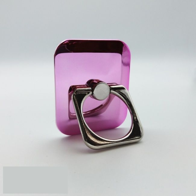 Кольцо-держатель для телефона квадратное розовое