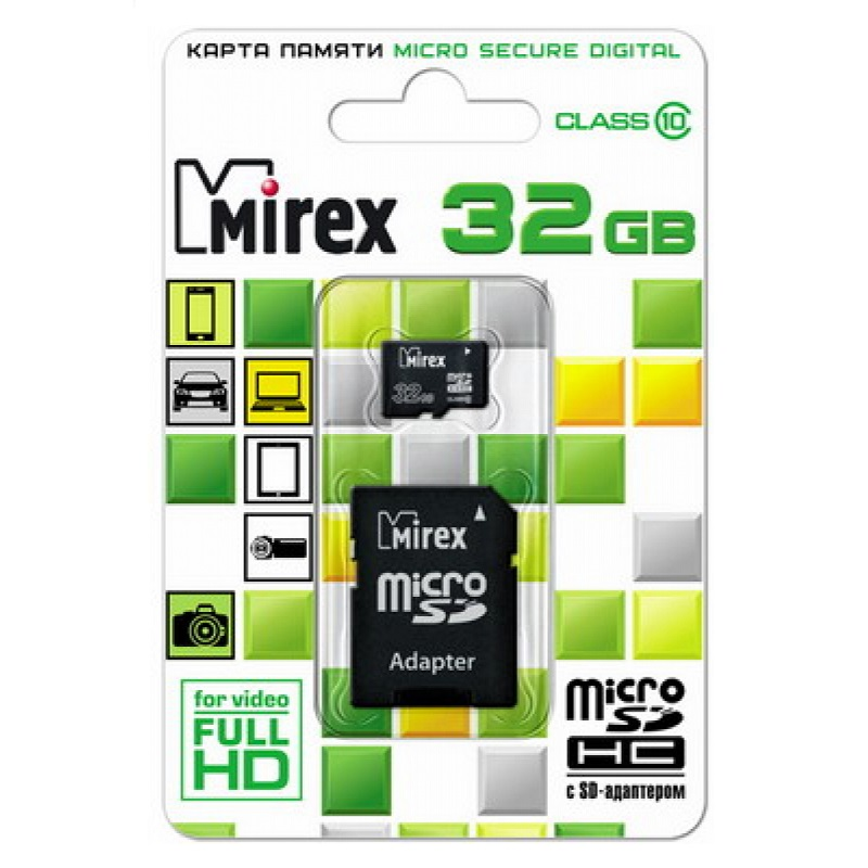 Карта памяти microSD Class 10 (MIREX)