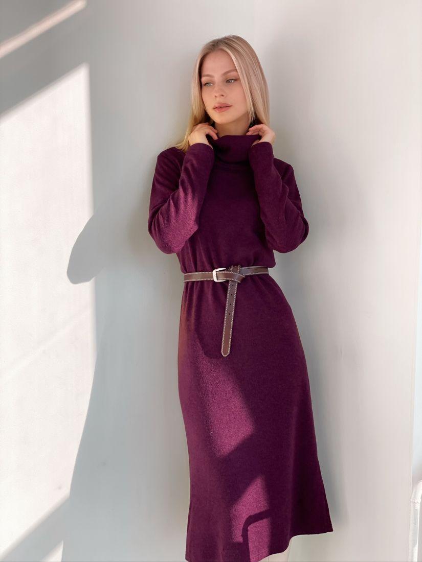 """s2870 Платье-свитер из ангоры в цвете """"вино"""""""