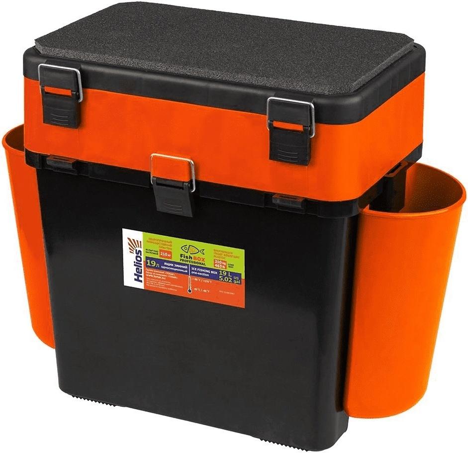 """Ящик зимний """"FishBox"""" Helios,19 л.,с навесными карманами, оранжевый"""
