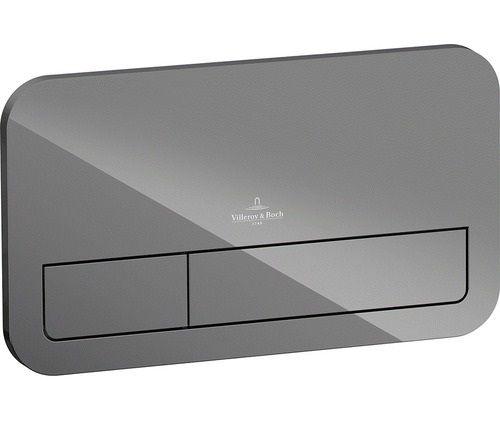 Клавиша двойная смывная стеклянная Villeroy&Boch M200 922400RA серый ФОТО