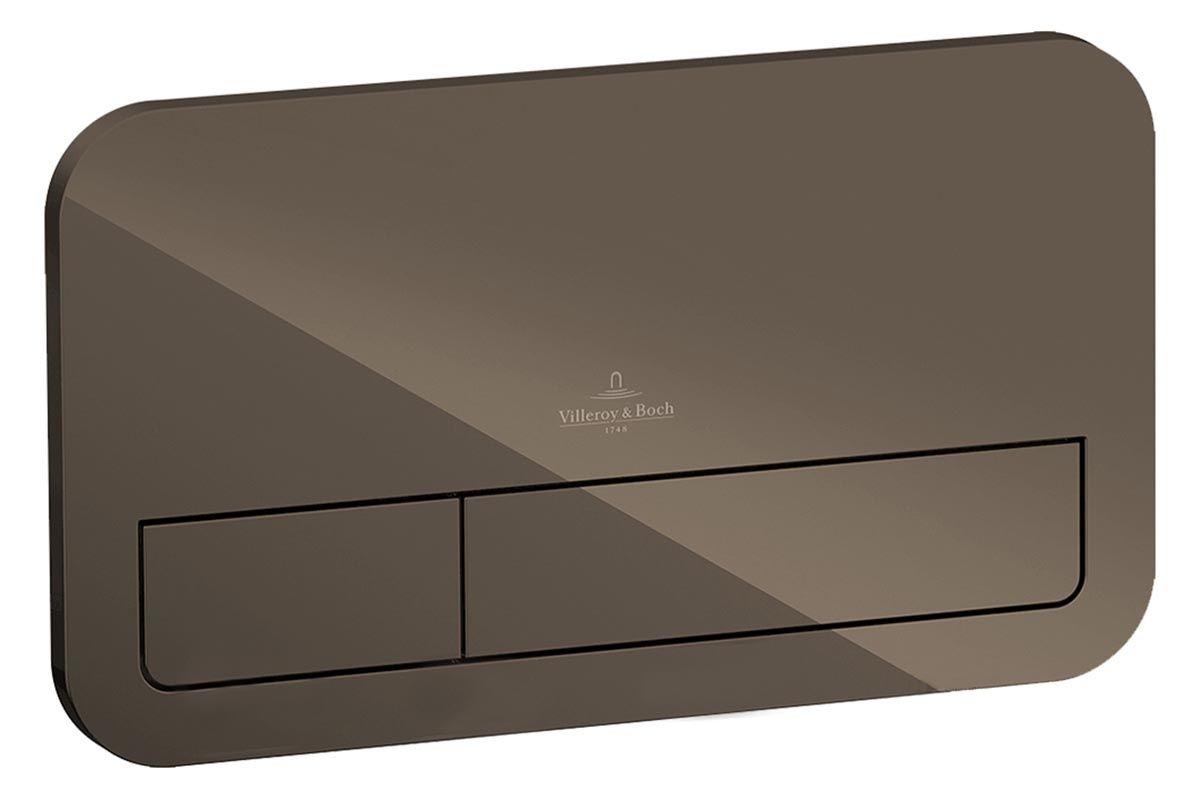 Клавиша двойная смывная стеклянная Villeroy&Boch M200 922400RT terra ФОТО