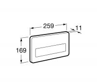 Кнопка смыва Roca PL3 Antivandalica 890097104 одинарная