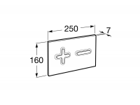 Кнопка смыва Roca PL6 Dual 890085000