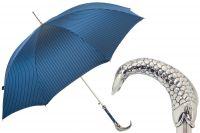 Зонт-трость Pasotti Pesce Silver Oxford Blu StripesL