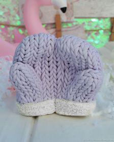 Силиконовая форма для мыла Вязаные рукавички