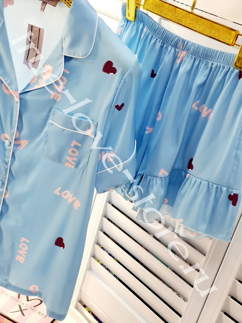P_023- Цена за 1 шт, Пижама двойка (Голубая)