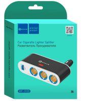 Разветвитель прикуривателя (3 гнезда, USB)
