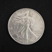 СуперМагнитная монета Walking Liberty Half Dollar (Super Strong, 3.05cm, Brass)