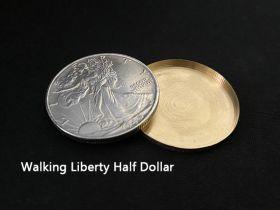 Expanded Shell Walking Liberty Half Dollar (Head, Brass)
