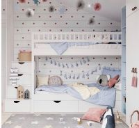 Кровать двухъярусная Лейла №9 с ящиками