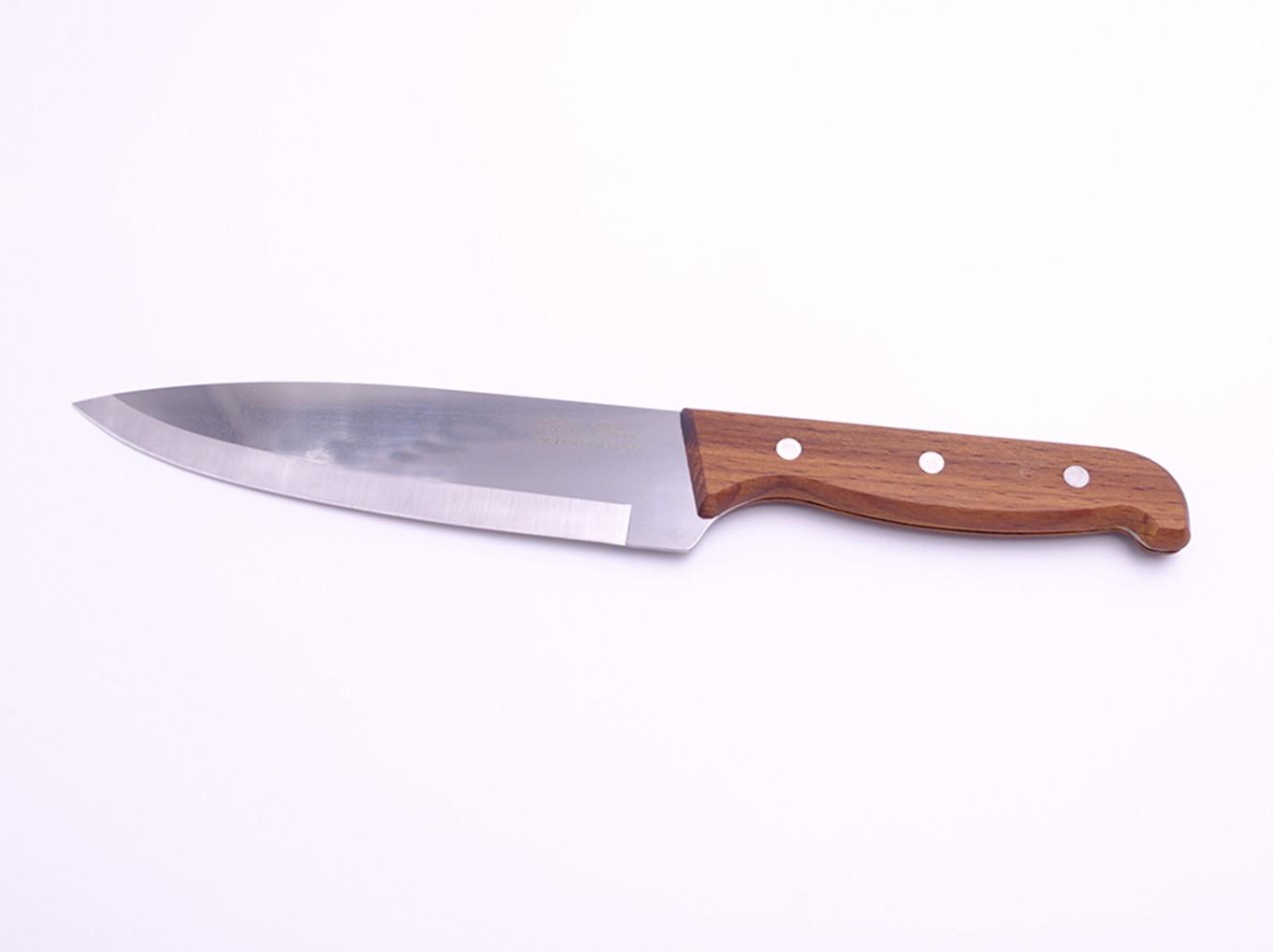 Шеф-нож большой с деревянной ручкой 30см КН-110