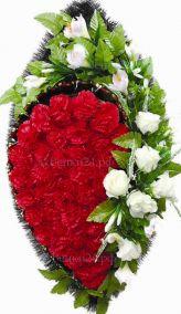 Траурный венок из искусственных цветов - Элит #12