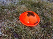 Конус для разметки поля футбольный ( фишка) - оранжевый усиленная