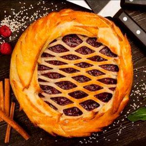Сладкий пирог с клубникой 1000г