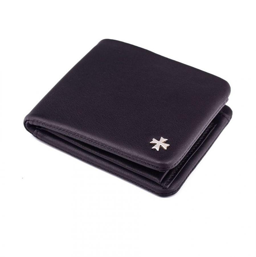 Кожаное портмоне Narvin 9698-N.Palermo Black/D.Blue