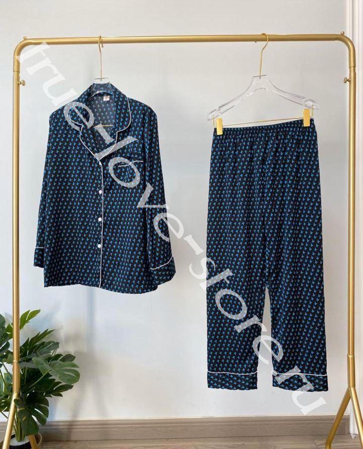 720193- Цена за 2 шт, Пижама двойка VS Синяя (L,XL)