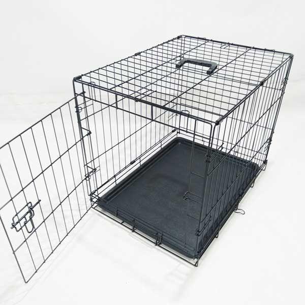 Клетка для собак кошек №2 60х46х53 1 дверь пластиковый поддон