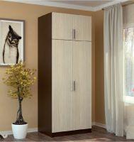 шкаф распашной 2-х створчатый с перегородкой