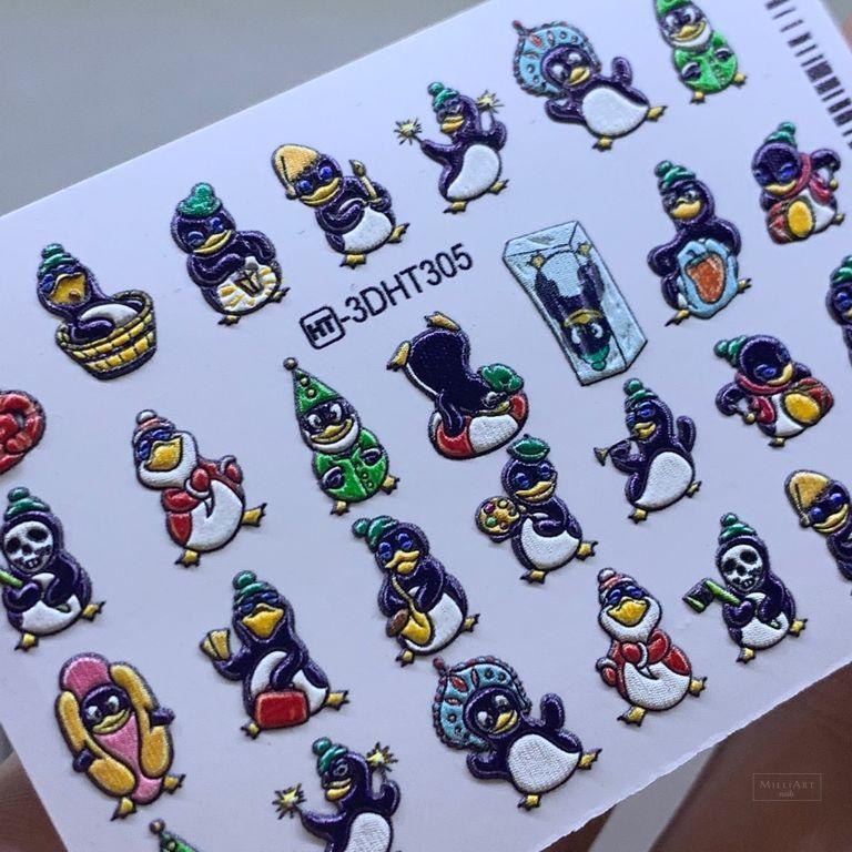 3D ОБЪЕМНЫЙ СЛАЙДЕР-ДИЗАЙН, ХРУСТАЛЬ  Зимняя сказка! Пингвины! Супер эффект!!!