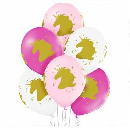 Гелиевые шары с рисунком «ГОЛОВА ЕДИНОРОГА»