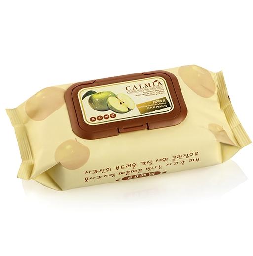 Очищающие пилинг-салфетки с экстрактом яблока Calmia Premium Apple Peeling Cleansing Tissue