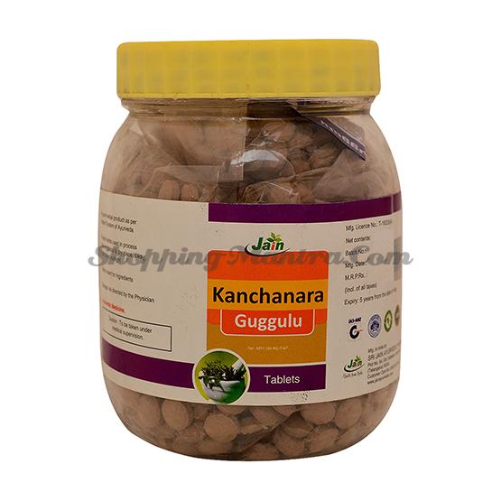 Канчнара Гуггул (1000 шт.) Джайн Аюрведик | Jain Ayurvedic Kanchanara Guggulu Jar