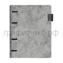 Обложка-папка А5 Феникс+ 4к.д/смен.блоков, петля для ручки серая 51782