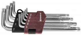 TTK9S Набор ключей торцевых T-TORX® с центрированным штифтом, Т10H-T50H, 9 предметов