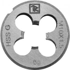 MDG1015 Плашка D-DRIVE круглая ручная с направляющей в наборе М10х1.5, HSS, Ф25х9 мм