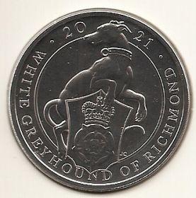 Белая борзая Ричмонда 5 фунтов Великобритания 2020 на заказ