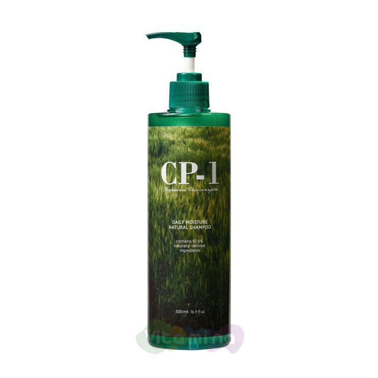 Esthetic House Шампунь с протеинами и зеленым чаем CP-1 Daily Moisture Natural Shampoo, 500 мл