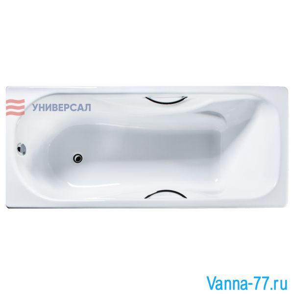 Чугунная ванна Сибирячка 180x80 с отверстиями под ручки