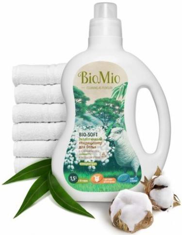 Bio-Mio кондиционер для белья Bio-Soft с эфирным маслом эвкалипта 1,5 л