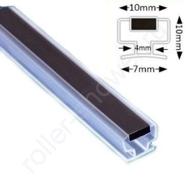 MG13-Магнитный уплотнитель для алюминиевого профиля в душевой кабине. Длина 2 метра.
