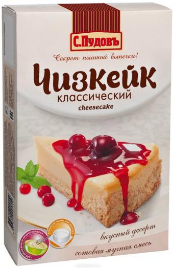 ПУДОВ Чизкейк классический мучная смесь 350 г
