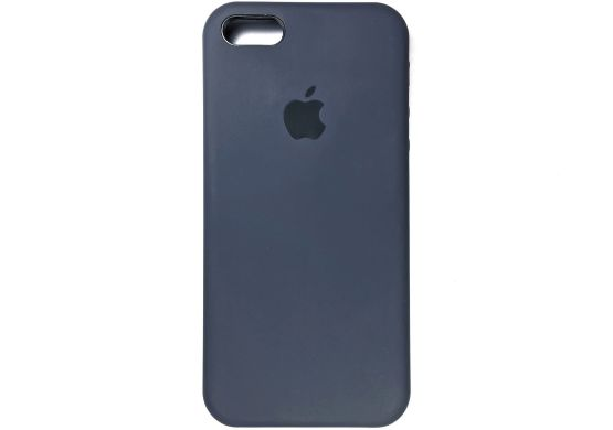 Apple silicon case для iPhone 5/5s/se (синий)