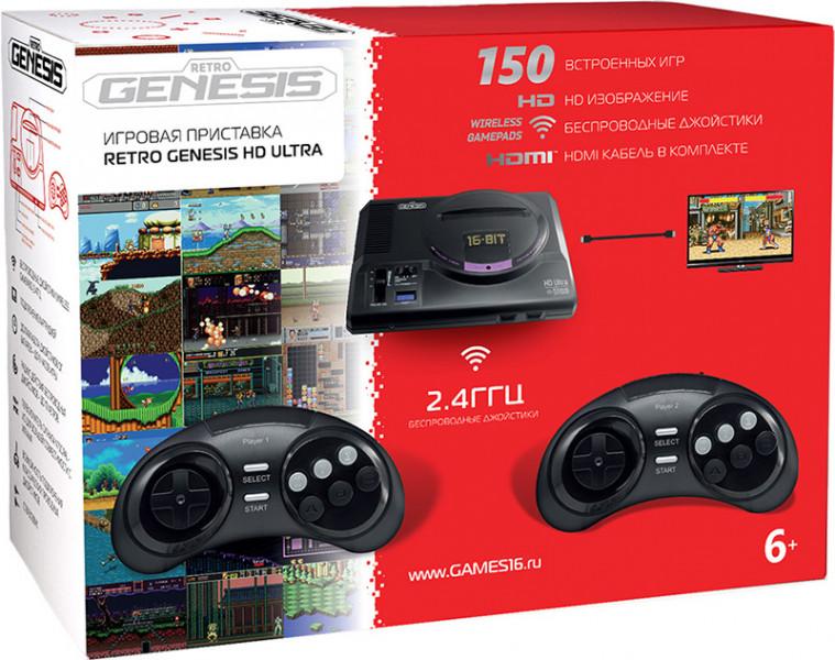 Игровая приставка Sega Retro Genesis HD Ultra + 150 игр ZD-06