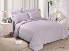Комплект постельного белья Лен Soft cotton жаккард   евро  Арт.31/018-SC