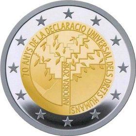 70 лет всеобщей декларации прав человека 2 евро Андорра 2018